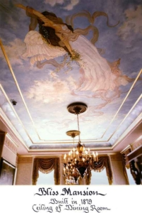 The Bliss Mansion ceiling.