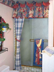 Custom Shower Curtain & Accessories (matches Master Bedroom).