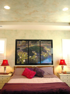 "Artwork Centerpiece: ""Precious Pond"" Faux Painted Walls and Ceiling."