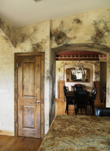 Tuscan Tahoe Style: Faux Painted Dining Room.