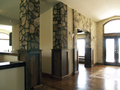 Tuscan Tahoe Style: Faux Painted Entry