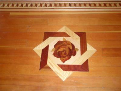Rose Inlaid Wood Floor