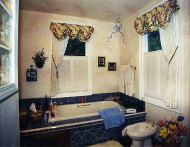 Faux Painted Walls, Custom Window Treatments.