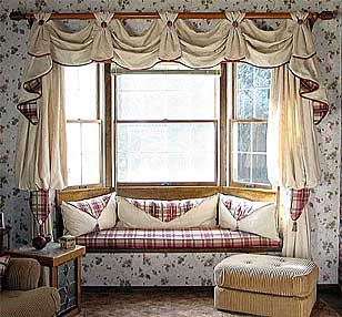 Bay Window & Cushions.