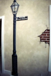 """""""FRENCH QUARTER"""" Wall Mural - Close Up."""
