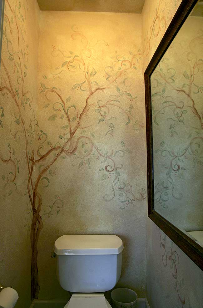 Murals lofty expressions for Bathroom mural ideas