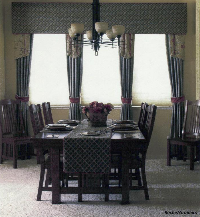 Lofty Expressions Mission Style Dining Room Custom Window Treatments